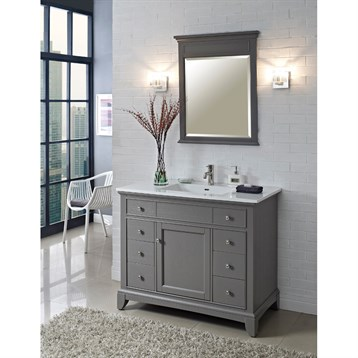 Fairmont Designs 42 Smithfield Vanity Medium Gray Free Shipping Modern Bathroom