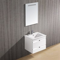 Vigo 24-inch Ethereal-Duece Single Bathroom Vanity with Mirror - White Gloss VG09030001K