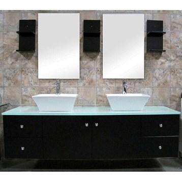 """Design Element Portland 61"""" Double Sink Vanity Set, Espresso DEC071A by Design Element"""