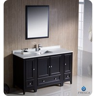 "Fresca Oxford 54"" Traditional Bathroom Vanity with 2 Side Cabinets - Espresso FVN20-123012ES"