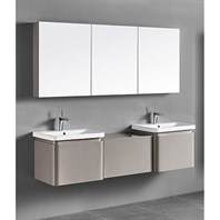 "Madeli Euro 72"" Double Bathroom Vanity for Integrated Basins - Silk 2X-B930-24-002-SK, UC930-24-007-SK"