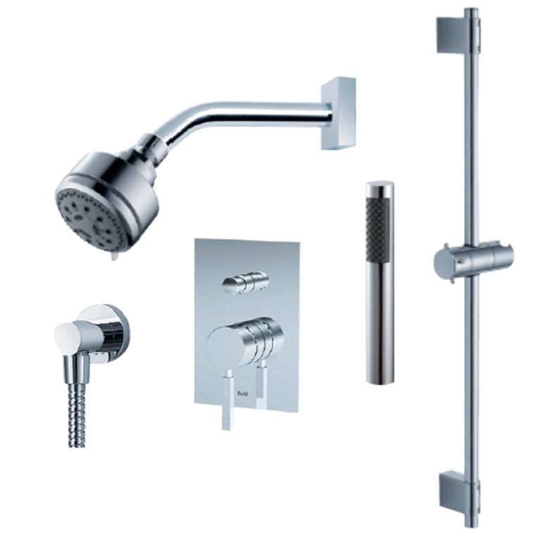 fluid Emperor - Handheld Shower Trim Set with Slide Bar F1454T