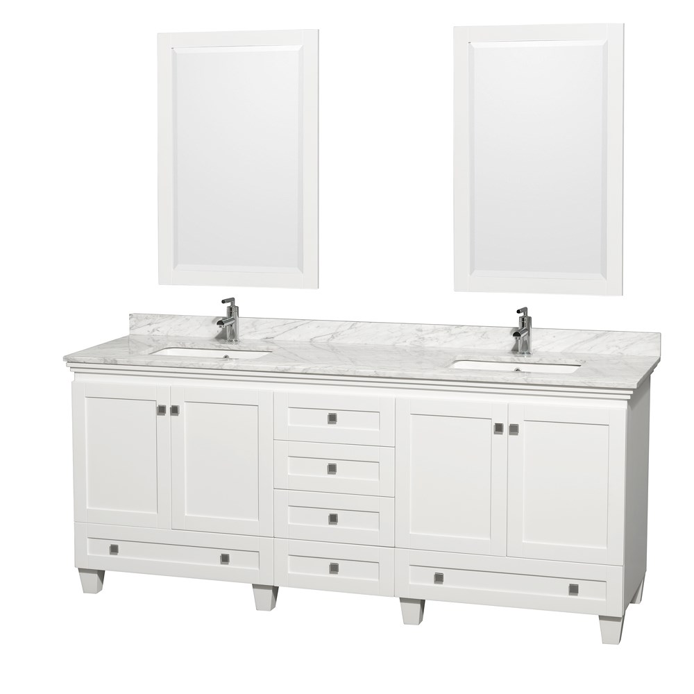 Acclaim 80 inch Double Bathroom Vanity by Wyndham Collection White