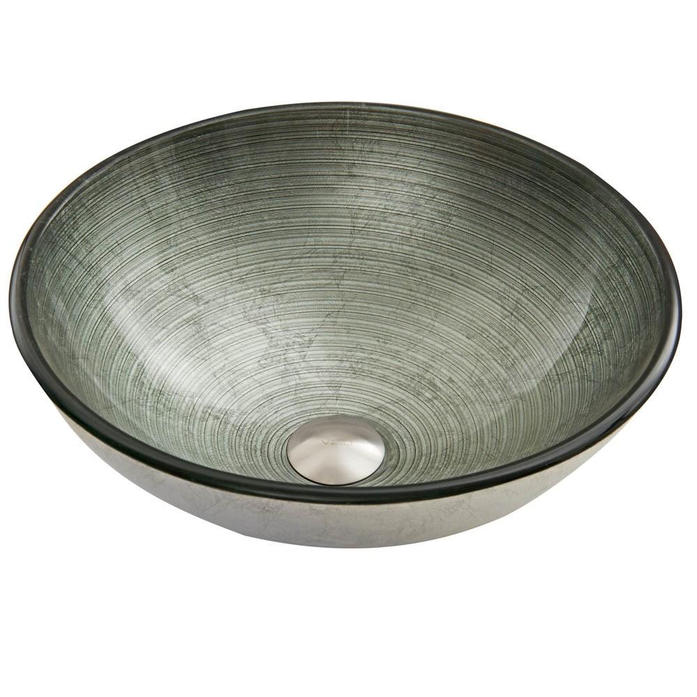 VIGO Simply Silver Glass Vessel Sinknohtin Sale $109.90 SKU: VG07053 :