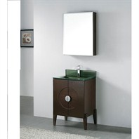 "Madeli Genova 24"" Bathroom Vanity with Glass Basin - Walnut Genova-24-WA-Glass"