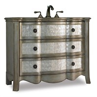 "Cole & Co. 46"" Designer Series Collection Marlowe Shell Chest - Antique Silver and Gold 11.22.275546.46"