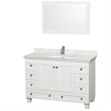 Acclaim In Single Bathroom Vanity By Wyndham Collection White - Wyndham bathroom vanities
