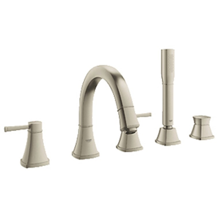 Grohe Grandera 2-Handle 5-hole Bath Combination - Brushed Nickel GRO 19919EN0