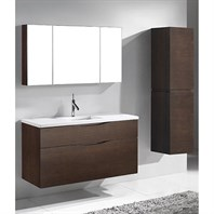 "Madeli Bolano 48"" Single Bathroom Vanity for Quartzstone Top - Walnut B100-48C-022-WA-QUARTZ"
