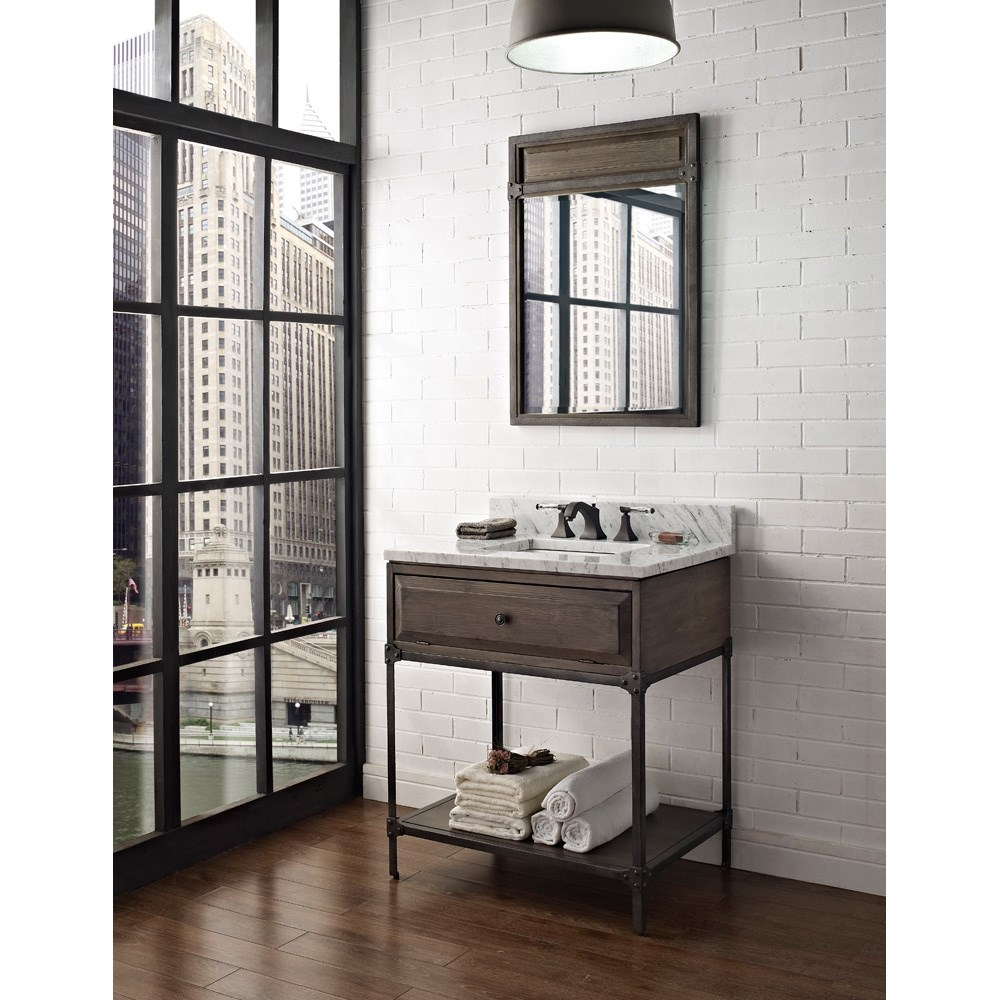 "Fairmont Designs 30"" Toledo Open Shelf Vanity - Driftwood Graynohtin"