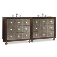 "Cole & Co. 72"" Designer Series Collection Celebrity Double Sink Chest - Dark Kona 11.24.275572.13"