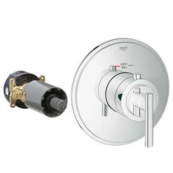 Grohe GrohFlex Timeless Custom Shower Thermostatic Trim with Control Module GRO 19865 by GROHE