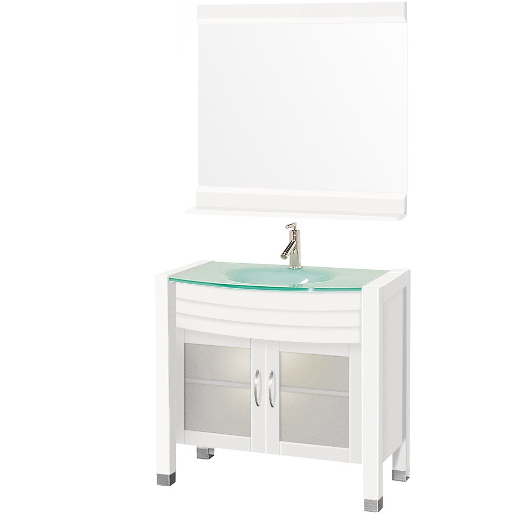 "Daytona 36"" Bathroom Vanity with Mirror - White"