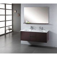"Virtu USA Matteo 51"" Double Sink Bathroom Vanity - Espresso MD-421-S-ES"