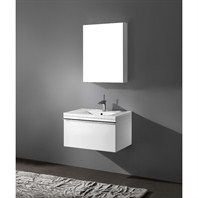 "Madeli Venasca 30"" Bathroom Vanity with Integrated Basin - Glossy White Venasca-30-GW"