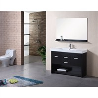 "Design Element Citrus 48"" Single Sink Bathroom Vanity Set - Espresso DEC073"