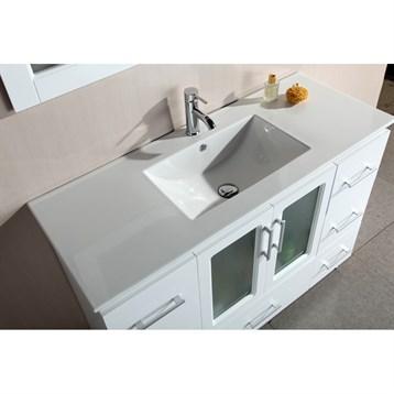 Design element stanton 48 single sink vanity set with for Design element marcos solid wood double sink bathroom vanity
