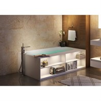 Aquatica Storage Lovers Freestanding Solid Surface Bathtub - Matte White Aquatica Storage-Lovers-Bath