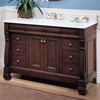 "Fairmont Designs 48"" Traditional Collection Victoria Vanity - Dark Cherry"