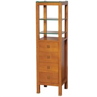 Tavello Wood Bathroom Cabinet - Honey Oak