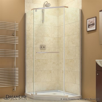 "Bath Authority DreamLine Prism Frameless Pivot Shower Enclosure, 38-1/8"" SHEN-2138380 by Bath Authority DreamLine"