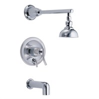 "Danze® Sonora™ Single Handle Tub & Shower Faucet Trim Kit with 4"" Showerhead - Chrome"