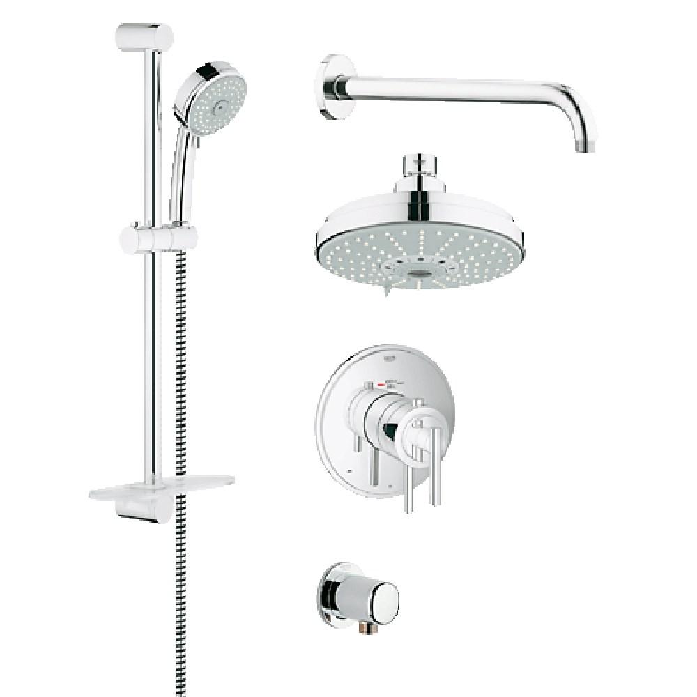 Grohe Atrio Grohflex Bath and Shower Set with Thermostat Valve - Starlight Chromenohtin Sale $745.99 SKU: GRO 35056000 :