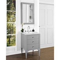 "Fairmont Designs Charlottesville 24"" Vanity for Integrated Sinktop - Light Gray 1510-V24-"