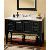 "Fairmont Designs 48"" Lifestyle Collection American Shaker Vanity - Distressed Black 168-V48BK"
