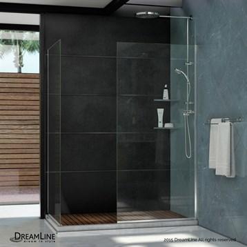 "Bath Authority DreamLine Linea Frameless Shower Door Panels, 30"" and 34"" SHDR-3230342 by Bath Authority DreamLine"