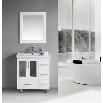 "Design Element Stanton 32"" Single Sink Vanity Set with Drop-in Sink, White B30-DS-W by Design Element"