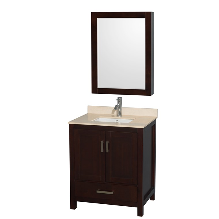 "Sheffield 30"" Single Bathroom Vanity by Wyndham Collection - Espresso WC-1414-30-SGL-VAN-ESP"