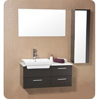 Fresca Caro Espresso Modern Bathroom Vanity with Mirrored Side Cabinet FVN6163ES