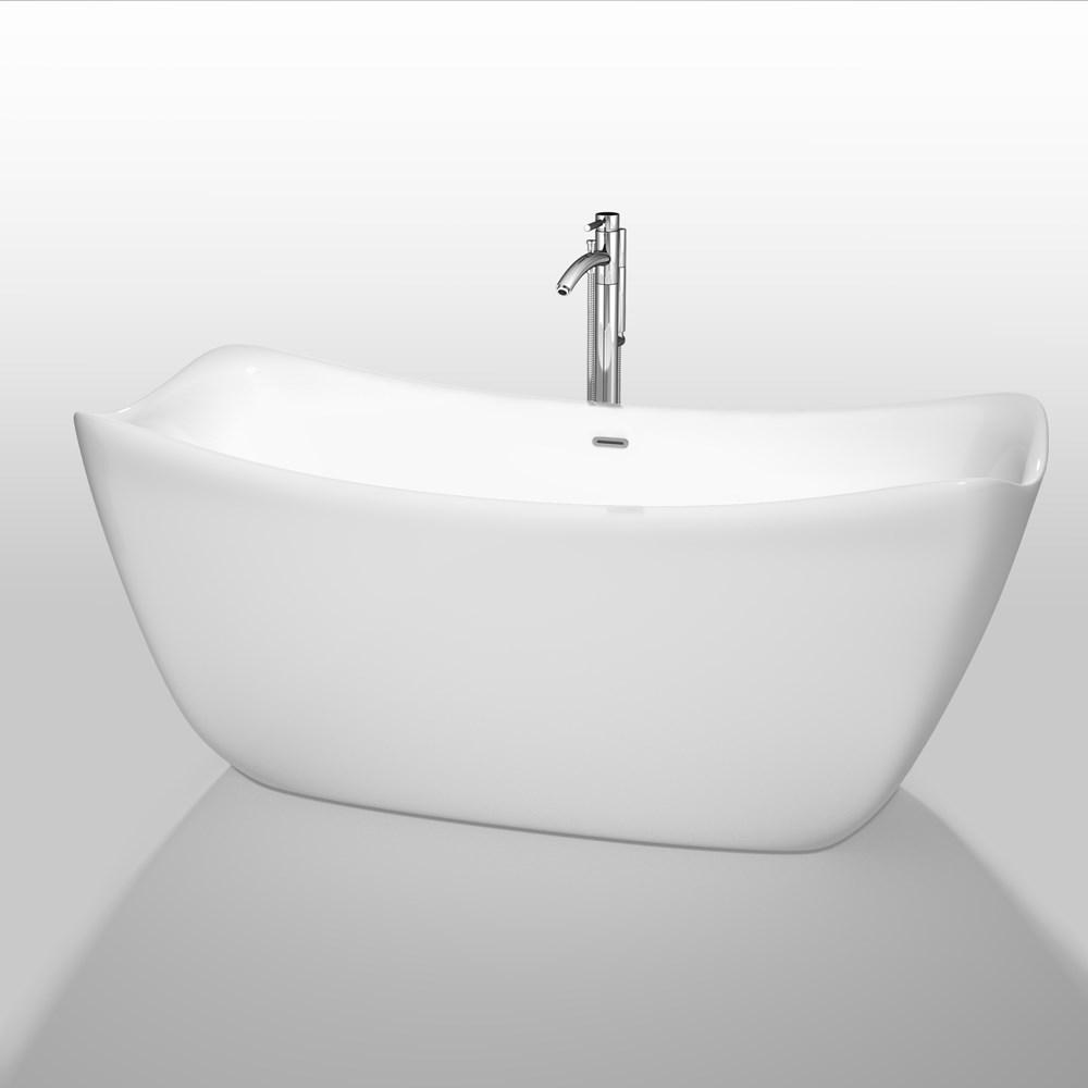 "Donna 67"" Soaking Bathtub by Wyndham Collection - Whitenohtin"