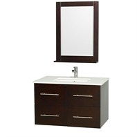 "Centra 36"" Single Bathroom Vanity Set by Wyndham Collection - Espresso WC-WHE009-36-ESP"