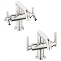 Grohe Atrio Low Spout Lavatory Centerset - Infinity Brushed Nickel