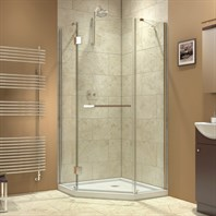 "Bath Authority DreamLine Prism-X Frameless Hinged Shower Enclosure (34-3/8"" by 34-3/8"") SHEN-2034340"