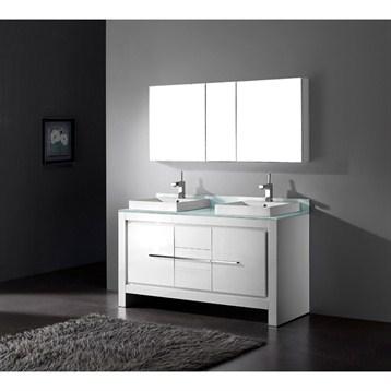 "Madeli Vicenza 60"" Double Bathroom Vanity, Glossy White B999-60CD-001-GW by Madeli"
