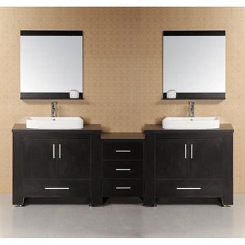 "Design Element Washington 92"" Modern Bathroom Vanity, Espresso DEC083-E by Design Element"