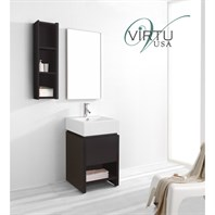 "Virtu USA Curtice 20"" Single Sink Bathroom Vanity Set - Espresso ES-2020-C-ES"