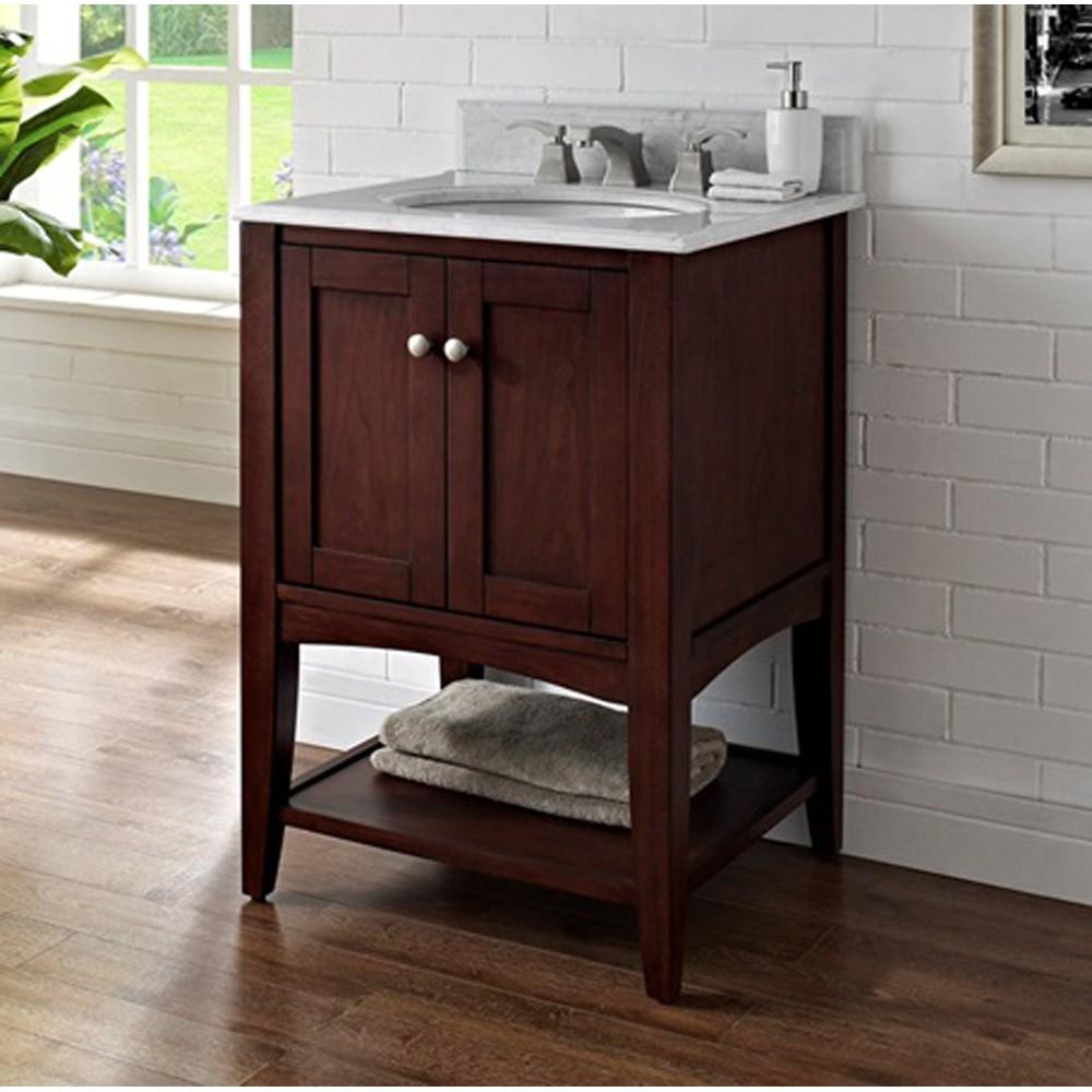 "Fairmont Designs Shaker Americana 24"" Vanity - Open Shelf - Habana Cherrynohtin Sale $750.00 SKU: 1513-VH24_ :"