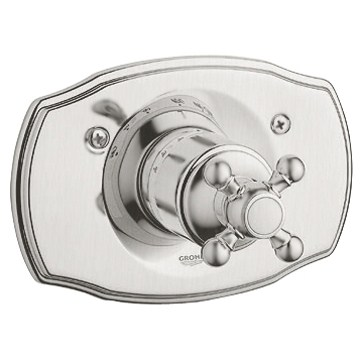 Grohe Geneva Thermostat Trim with Cross Handle - Infinity Brushed Nickelnohtin Sale $349.99 SKU: GRO 19615EN0 :