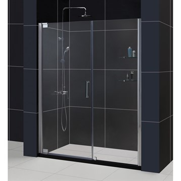 """Bath Authority DreamLine Elegance Frameless Pivot Shower Door with Handle, 49-1/4"""" to 51-1/4"""" SHDR-4149720 by Bath Authority DreamLine"""