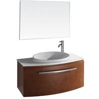 "Allura 40"" Modern Bathroom Vanity Set by Wyndham Collection - Pear Wood WC-V18029-39-PR"