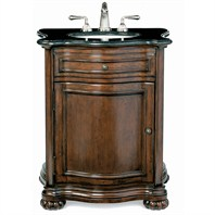 "Cole & Co. 31"" Premier Collection Verona Package Midnight Black with White Sink - Aged Chestnut 10.11.240329.27PBC"