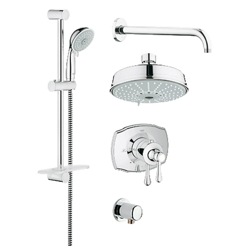 Grohe Grohflex Bath and Shower Set with Thermostat Valve - Starlight Chromenohtin Sale $745.99 SKU: GRO 35054000 :