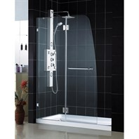 "Bath Authority DreamLine AquaLux Frameless Hinged Shower Door and SlimLine Single Threshold Shower Base (30"" by 60"") DL-6510"