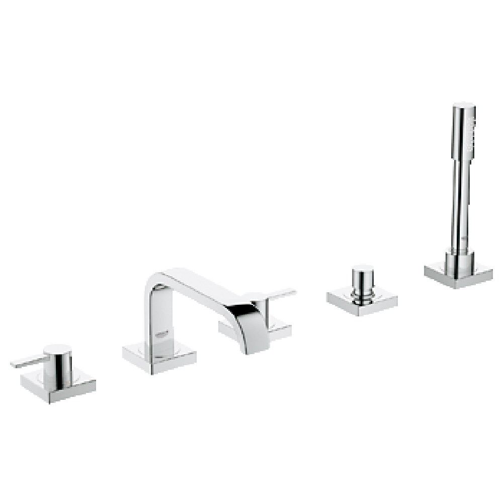 Grohe Allure 5-Hole Roman Bath Faucet Combination - Starlight Chromenohtin Sale $1742.99 SKU: GRO 25097000 :