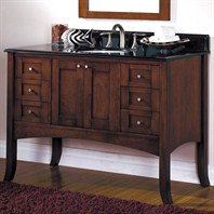 "Fairmont Designs 48"" Lifestyle Collection Shaker Vanity - Dark Cherry"