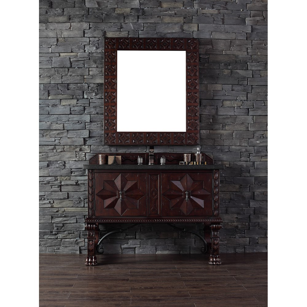 "James Martin 48"" Balmoral Single Vanity - Antique Walnutnohtin Sale $1390.00 SKU: 150-V48-ANW :"